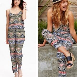 Old Navy multicolor Aztec Tribal Print jumpsuit XL